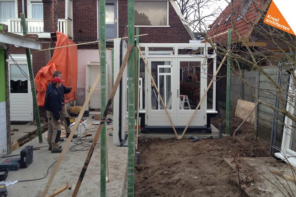 Bouwproces - Kraal architecten BNA - Uitbouw woning Nepveulaan Zeist - 04