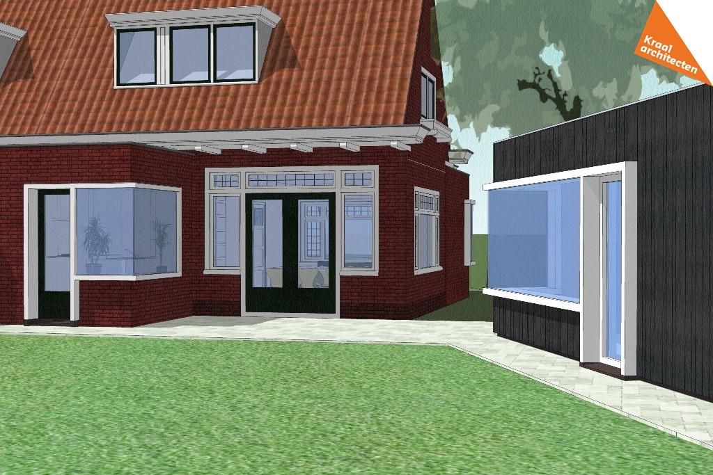 Projectinfo Bouwtekening - Kraal architecten - Uitbreiding Bilthoven 01
