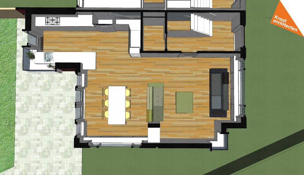 Projectinfo Bouwtekening - Kraal architecten - Uitbreiding Bilthoven 02