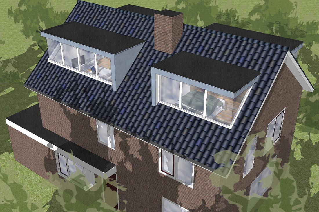 Projecttekening - Zolderverbouwing -Kraal architecten - Driebergen 01