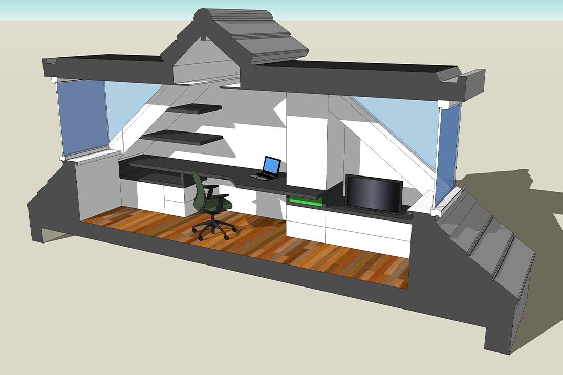 Projecttekening - Zolderverbouwing -Kraal architecten - Driebergen 03