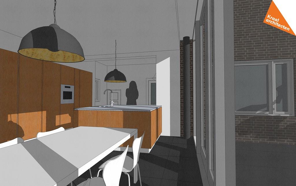 Projectinfo - Uitbreiding woning Assen - Leefkeuken - Kraal architecten - 01