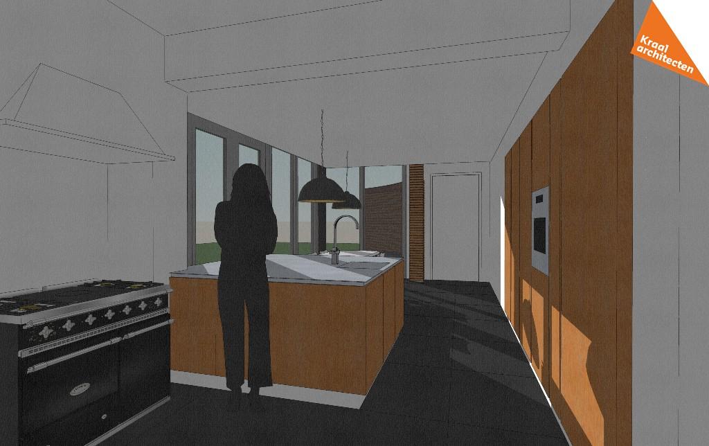 Projectinfo - Uitbreiding woning Assen - Leefkeuken - Kraal architecten - 02