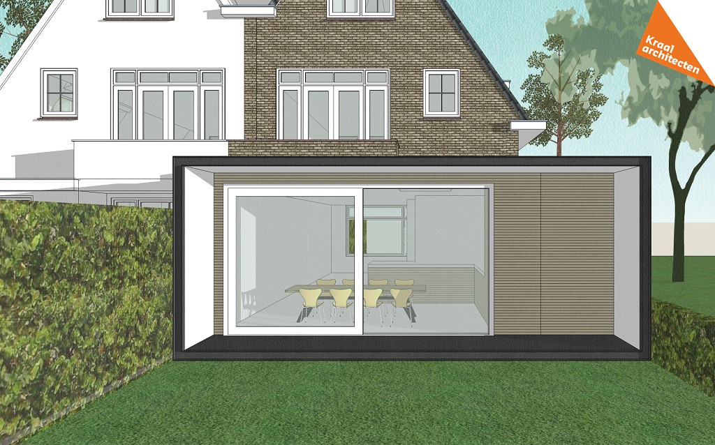 Moderne en duurzame uitbreiding woning - Kraal architecten Zeist - 01
