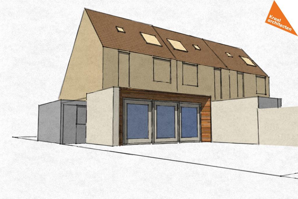 Moderne aanbouw woning Zeist - Kraal architecten - DO_01
