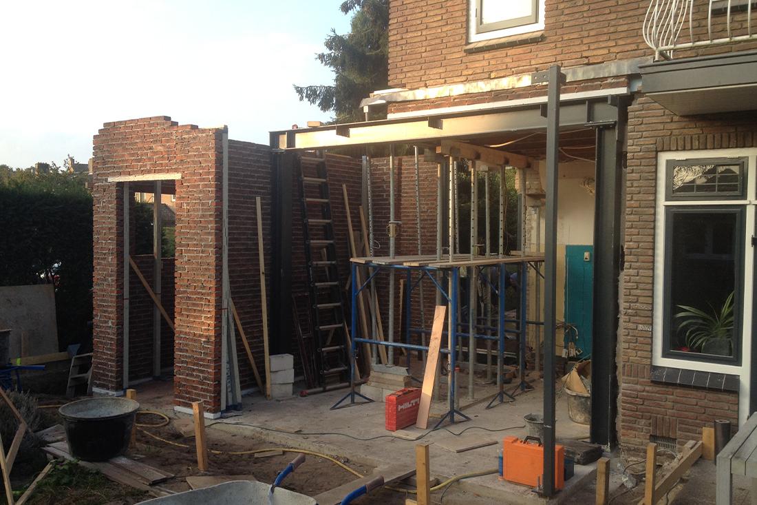 Bouwproces-uitbreiding-hoekwoning-amersfoort- Kraal architecten Amersfoort - 06