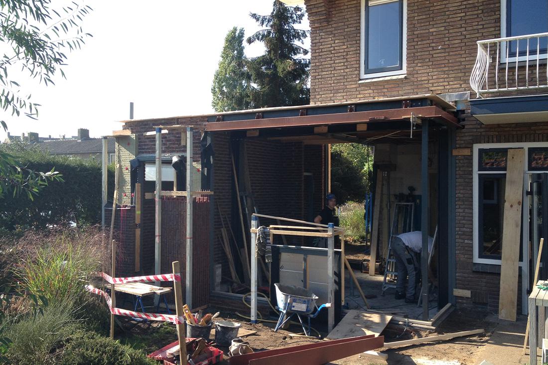 Bouwproces-uitbreiding-hoekwoning-amersfoort- Kraal architecten Amersfoort - 07