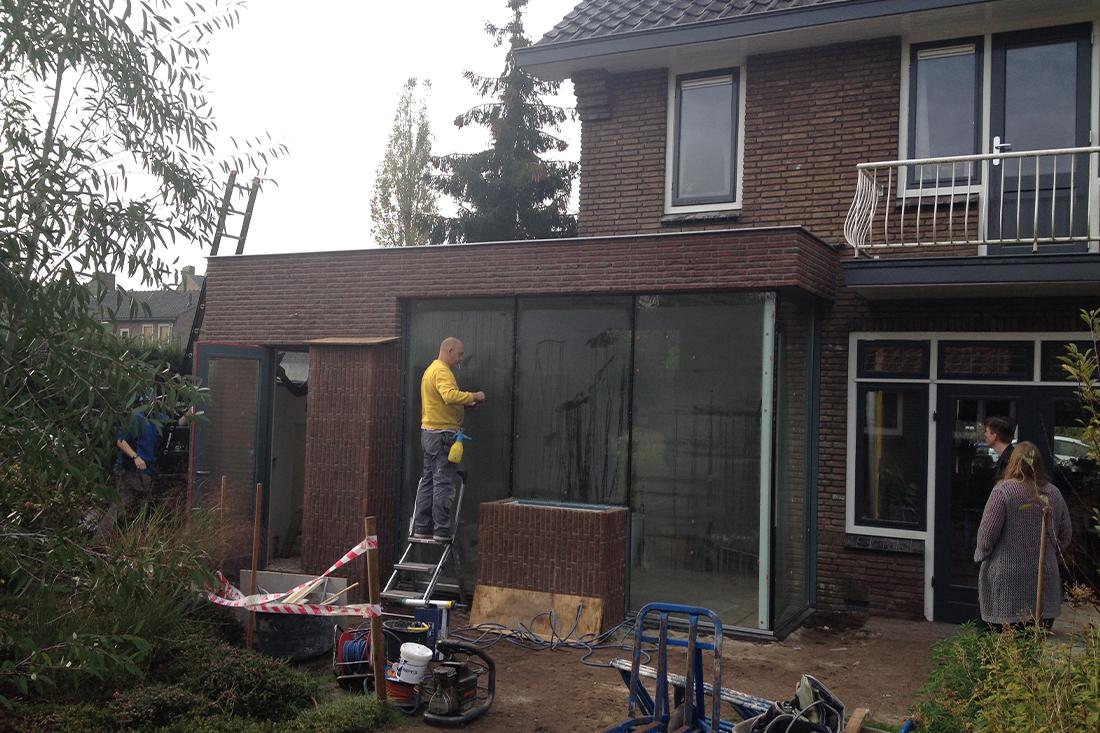Bouwproces-uitbreiding-hoekwoning-amersfoort- Kraal architecten Amersfoort - 09
