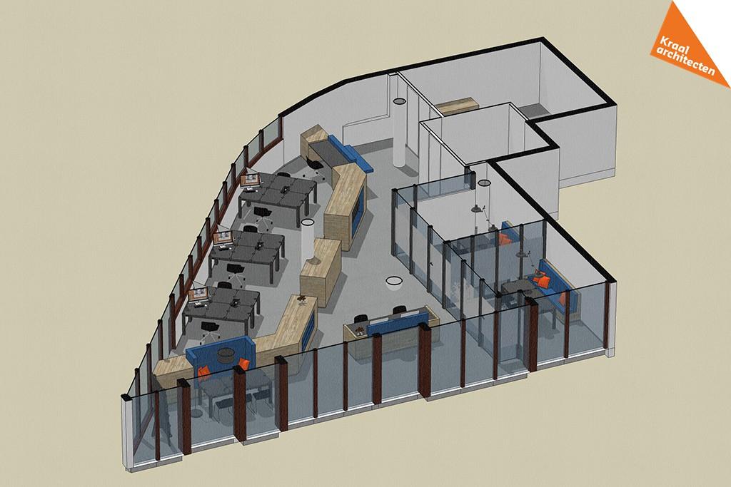 Interieurverbouwing makelaarskantoor Zeist - Kraal architecten - DO_01