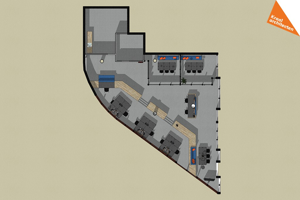 Interieurverbouwing makelaarskantoor Zeist - Kraal architecten - DO_02