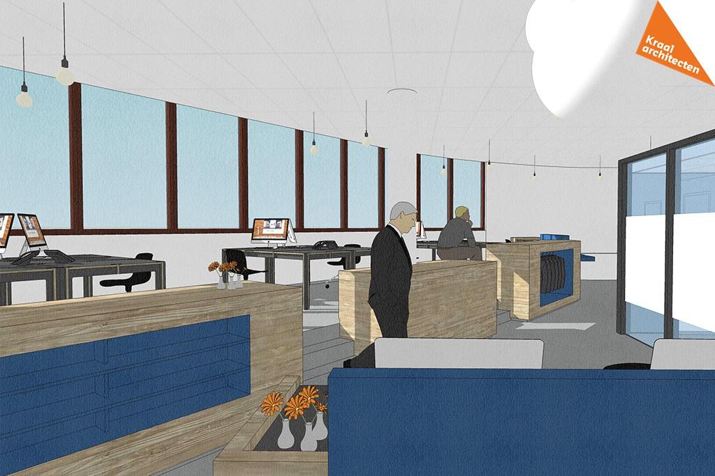 Interieurverbouwing makelaarskantoor Zeist - Kraal architecten - DO_03