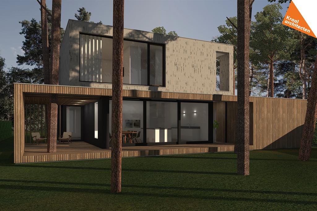 ontwerp moderne nieuwbouw villa