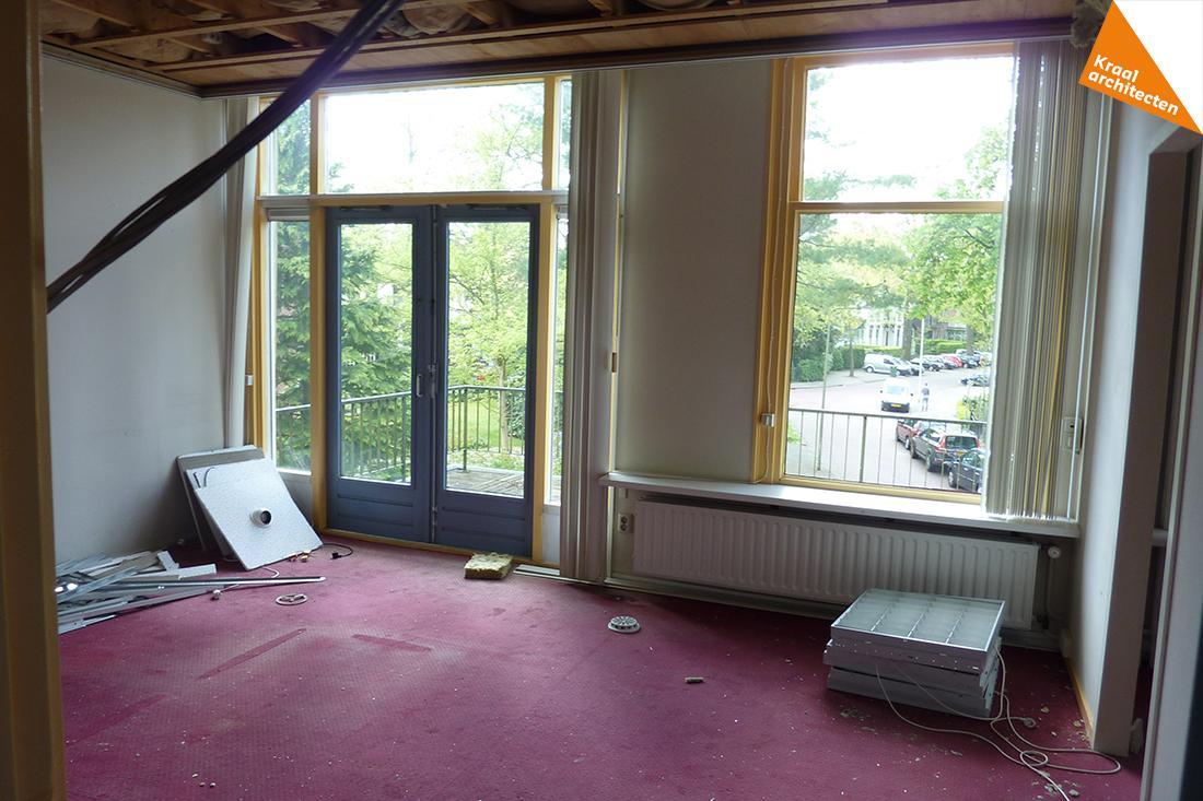 de ouderslaapkamer op de eerste verdieping voor de verbouwing