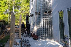 glazen bouwstenen verwijderen