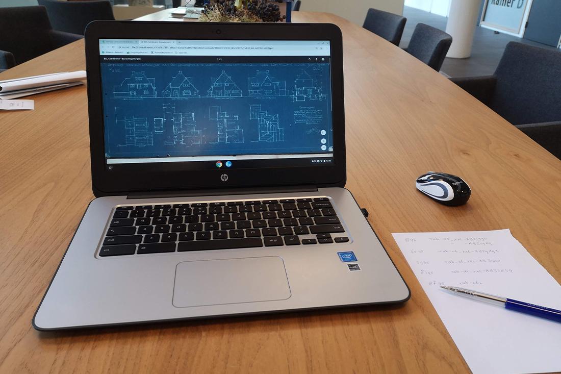 digitaal archief raadplegen op de laptop