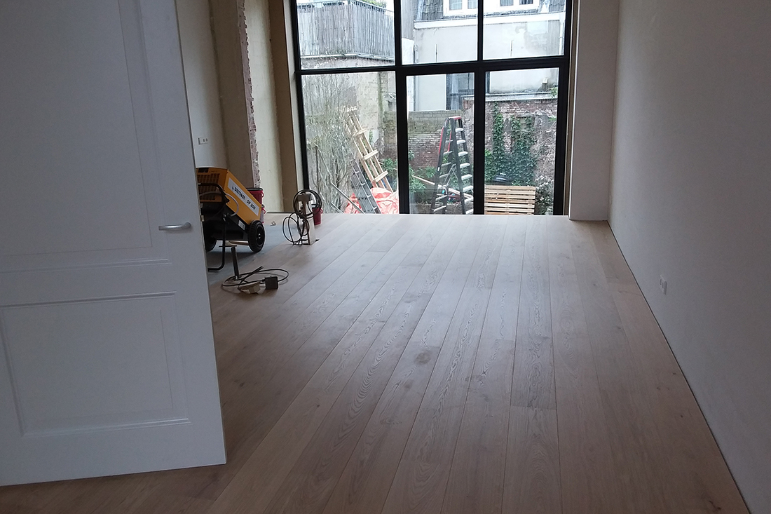 nieuwe houten vloer leggen