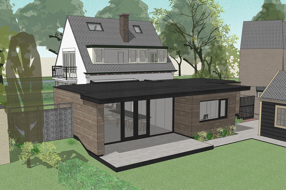 ontwerp uitbouw kraal architecten